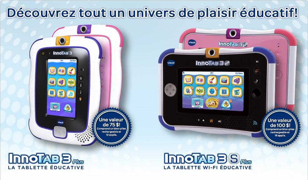 InnoTab3 Plus, InnoTab3S Plus. Découvrez tout un univers de plaisir éducatif!