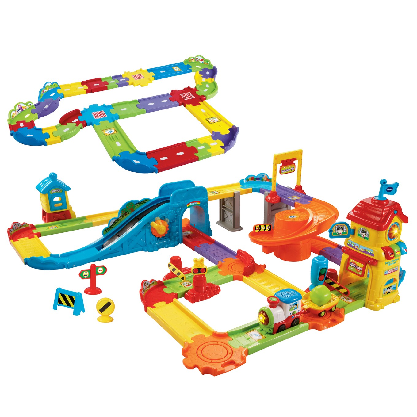 tut tut bolides mon circuit de train interactif de vtech. Black Bedroom Furniture Sets. Home Design Ideas