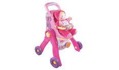 Baby Amaze 3-in-1 Care & Learn Doll Stroller