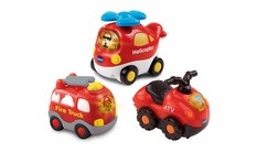 Go! Go! Smart Wheels 3 Pack - ATV + Helicopter + Fire Truck