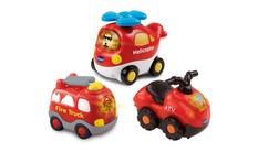 Go! Go! Smart Wheels 3 Pack - ATV + Helicopter + Fire Truck