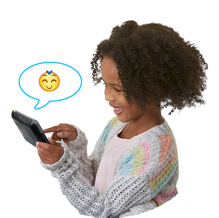 Send texts, voice messages, photos, drawings and animated stickers over Wi-Fi to a parent-approved contact list from iOS<sup>®</sup> and Android<sup>™</sup> devices using our free KidiConnect<sup>™</sup> app.