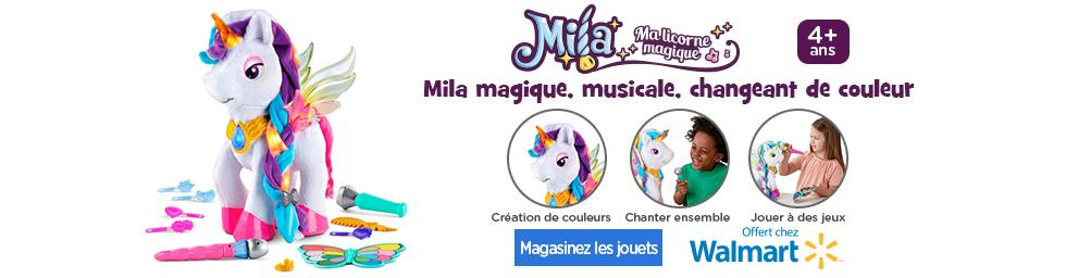 Mila magique, musicale, changeant de couleur